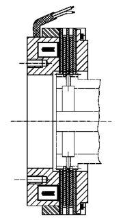Многодисковый электромагнитный тормоз LCBW80