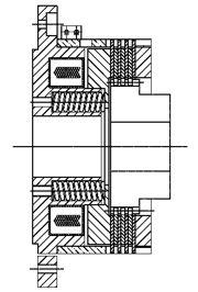 Многодисковый пружинный тормоз FMOB40