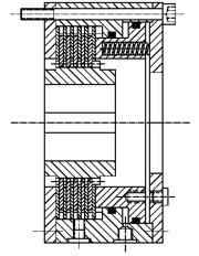 Многодисковый пружинный гидравлический тормоз HLOB35