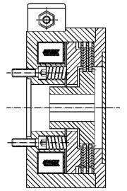 Многодисковый пружинный тормоз LMOBA63