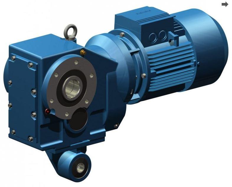 Коническо-цилиндрический редуктор E BOX K 34 N
