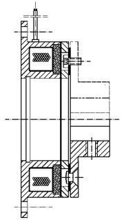 Однодисковый электромагнитный тормоз MCB0.7
