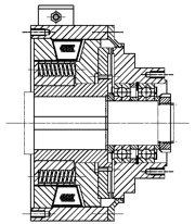 Зубчатые электромагнитные  муфты с пружинным замыканием MZOUL100