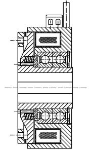 Зубчатые электромагнитные  муфты с пружинным замыканием FOZ160