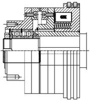 Зубчатые электромагнитные  муфты с пружинным замыканием MZOLD160